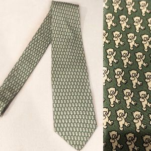 Silk Dancing Bears Green Tie Brooks Brothers